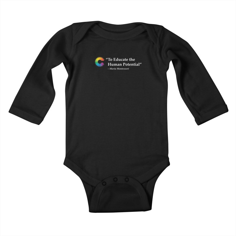 Maria Montessori Kids Baby Longsleeve Bodysuit by Chiaravalle Montessori Spirit Shop