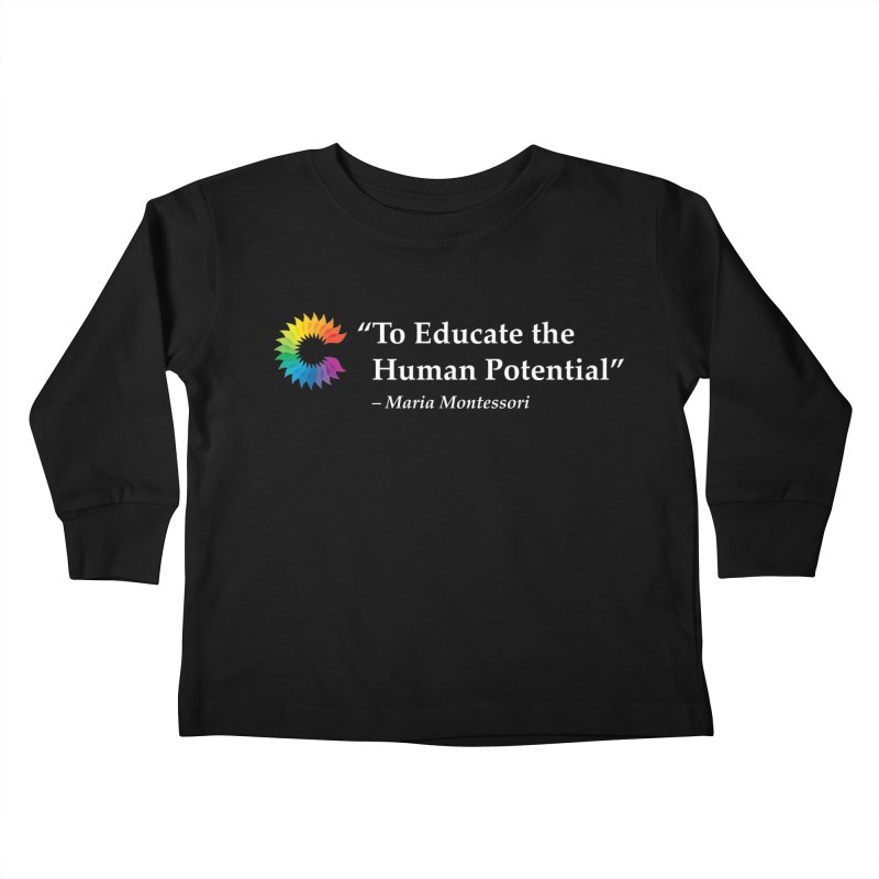 Maria Montessori Kids Toddler Longsleeve T-Shirt by Chiaravalle Montessori Spirit Shop
