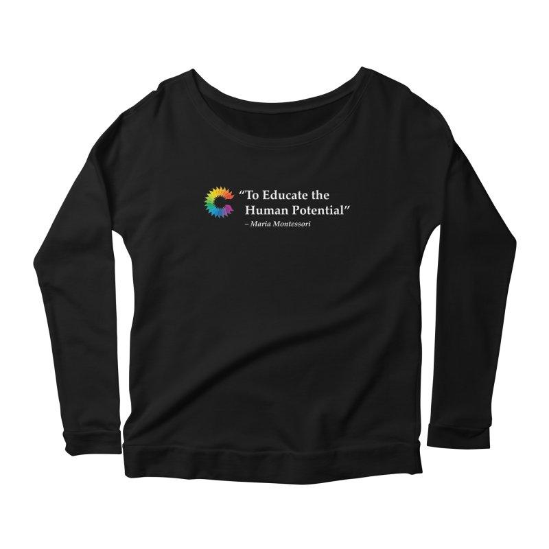 Maria Montessori Women's Scoop Neck Longsleeve T-Shirt by Chiaravalle Montessori Spirit Shop