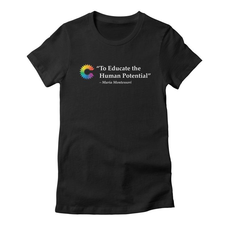 Maria Montessori Women's Fitted T-Shirt by Chiaravalle Montessori Spirit Shop