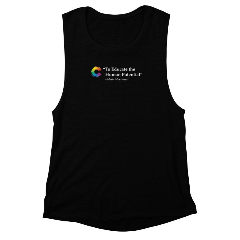 Maria Montessori Women's Muscle Tank by Chiaravalle Montessori Spirit Shop
