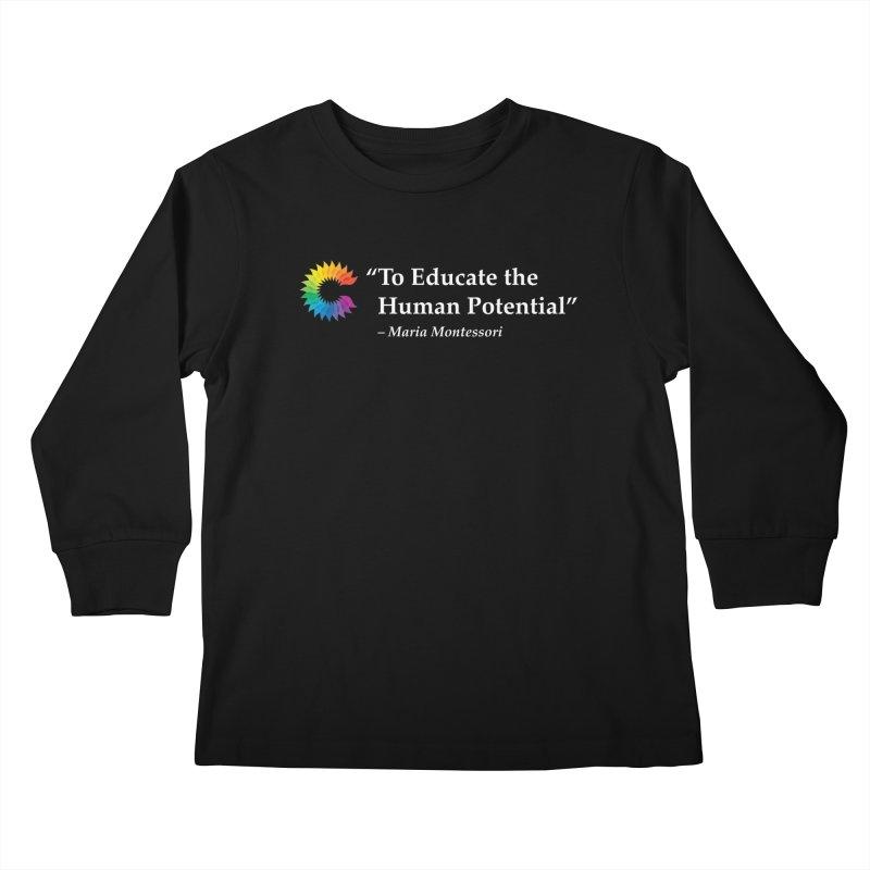 Maria Montessori Kids Longsleeve T-Shirt by Chiaravalle Montessori Spirit Shop