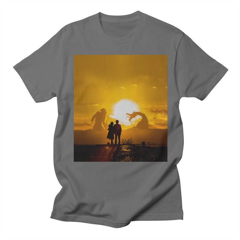 Battle At Sunset in Men's Regular T-Shirt Asphalt by chibrodesign's Shop
