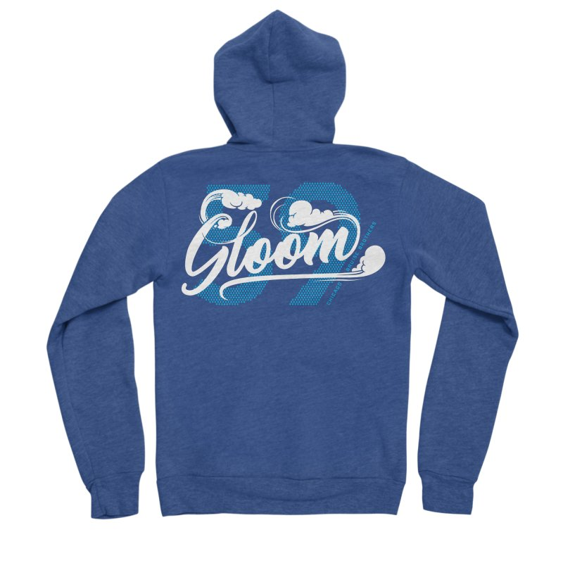 Skater Series: Gloom Women's Sponge Fleece Zip-Up Hoody by Chicago Bruise Brothers Roller Derby