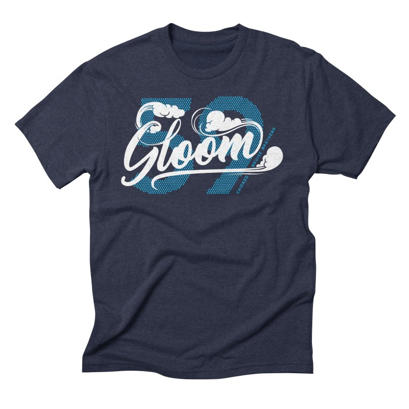 Skater Series: Gloom in Men's Triblend T-Shirt Navy by Chicago Bruise Brothers Roller Derby