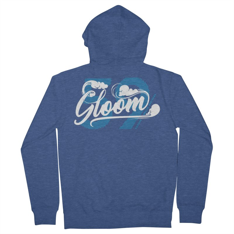 Skater Series: Gloom Women's French Terry Zip-Up Hoody by Chicago Bruise Brothers Roller Derby