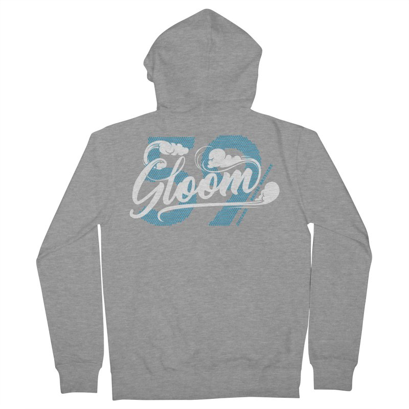 Skater Series: Gloom Men's French Terry Zip-Up Hoody by Chicago Bruise Brothers Roller Derby