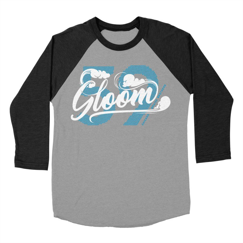 Skater Series: Gloom Women's Baseball Triblend Longsleeve T-Shirt by Chicago Bruise Brothers Roller Derby