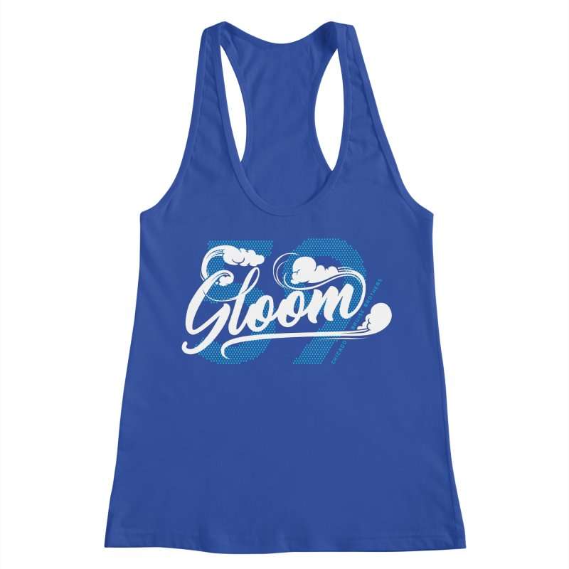 Skater Series: Gloom Women's Racerback Tank by Chicago Bruise Brothers Roller Derby