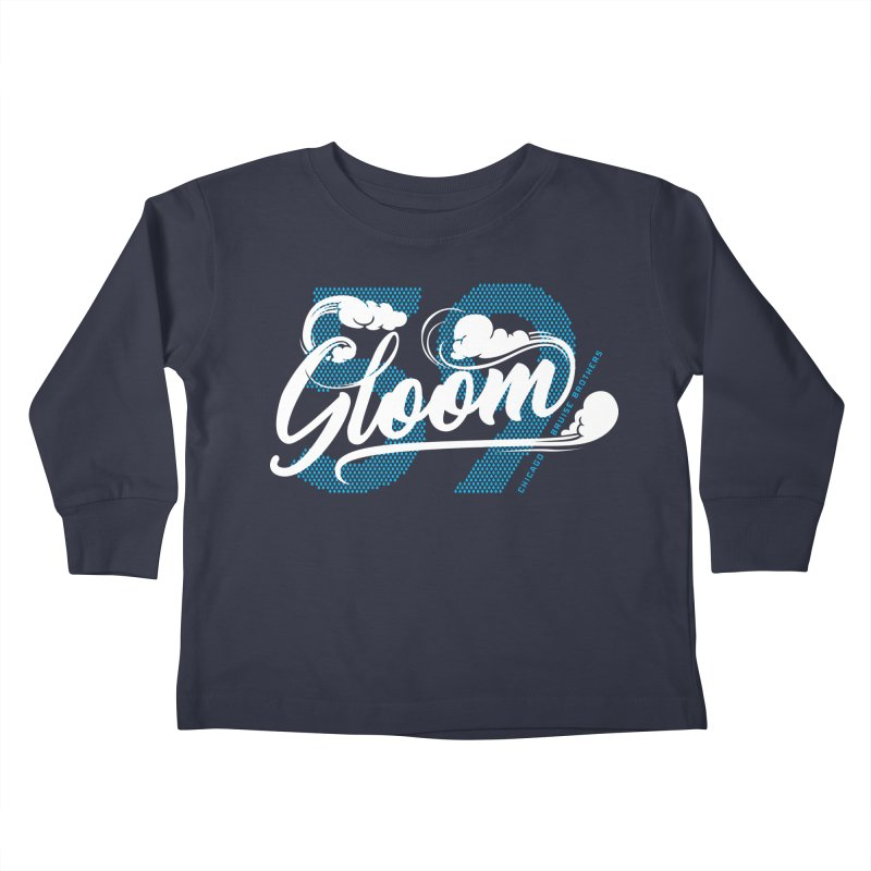 Skater Series: Gloom Kids Toddler Longsleeve T-Shirt by Chicago Bruise Brothers Roller Derby