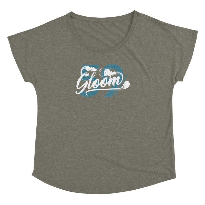 Skater Series: Gloom Women's Dolman Scoop Neck by Chicago Bruise Brothers Roller Derby