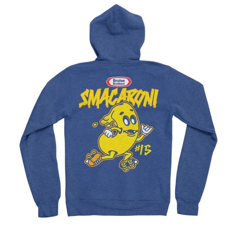Skater Series: Smacaroni Men's Sponge Fleece Zip-Up Hoody by Chicago Bruise Brothers Roller Derby