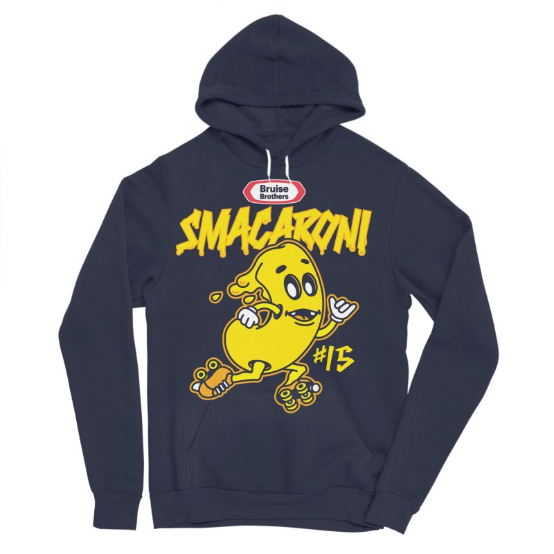 Skater Series: Smacaroni Men's Sponge Fleece Pullover Hoody by Chicago Bruise Brothers Roller Derby