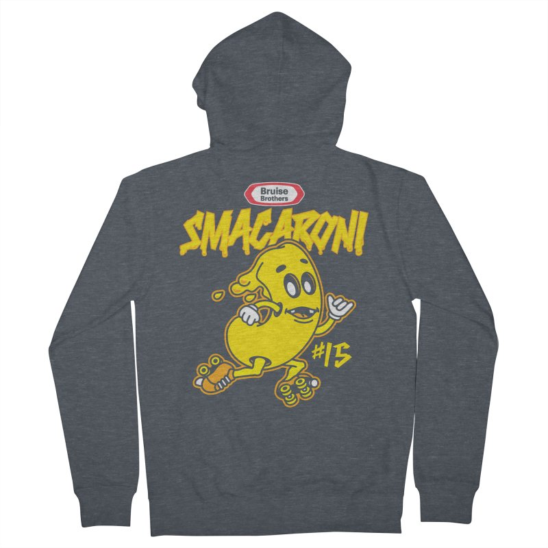 Skater Series: Smacaroni Women's French Terry Zip-Up Hoody by Chicago Bruise Brothers Roller Derby