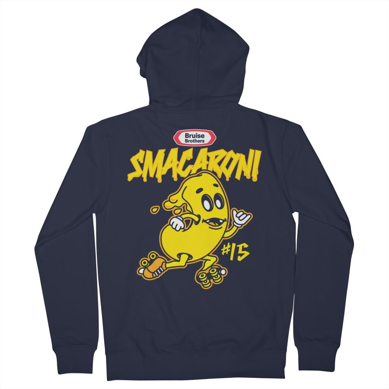 Skater Series: Smacaroni Men's French Terry Zip-Up Hoody by Chicago Bruise Brothers Roller Derby