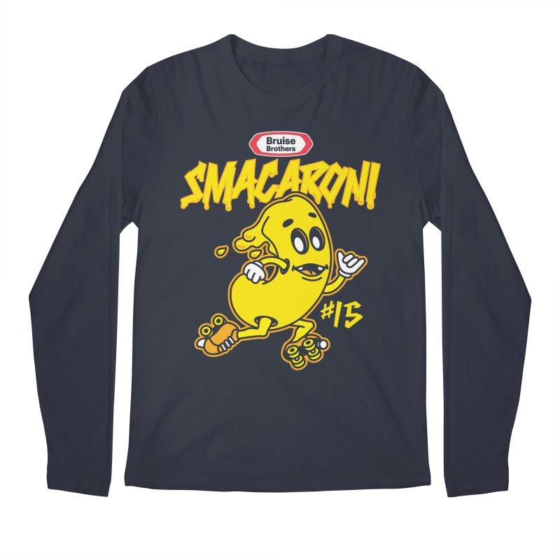 Skater Series: Smacaroni Men's Regular Longsleeve T-Shirt by Chicago Bruise Brothers Roller Derby