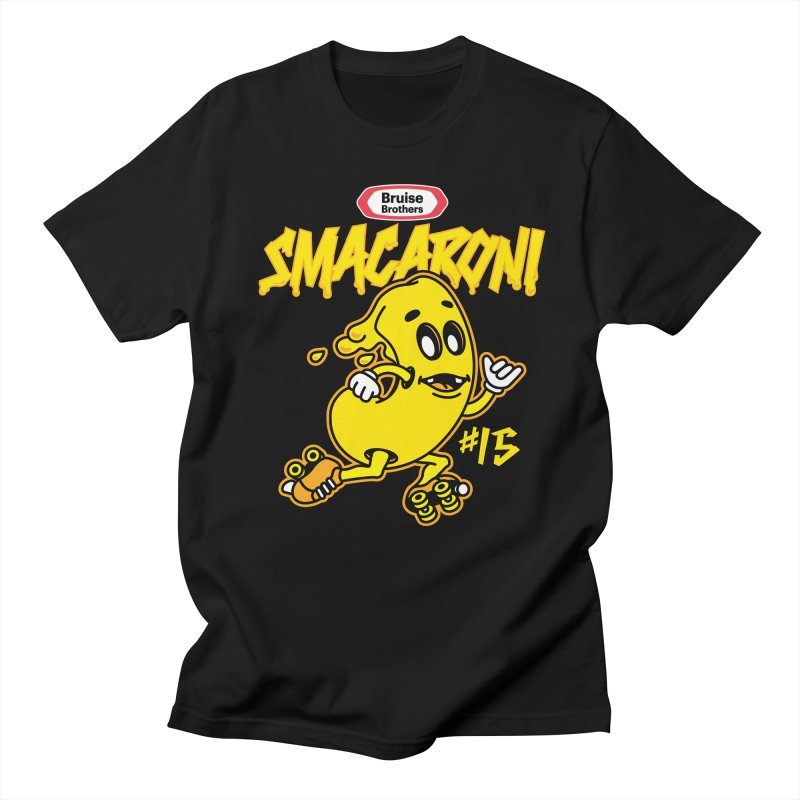 Skater Series: Smacaroni Men's Regular T-Shirt by Chicago Bruise Brothers Roller Derby