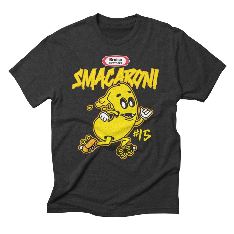 Skater Series: Smacaroni Men's Triblend T-Shirt by Chicago Bruise Brothers Roller Derby