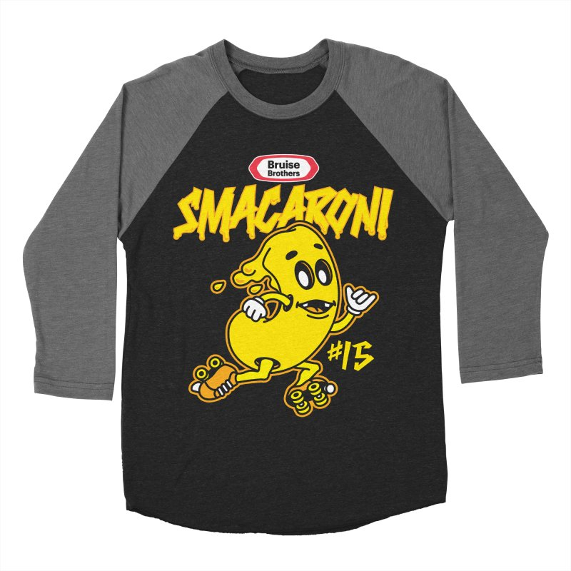 Skater Series: Smacaroni Women's Baseball Triblend Longsleeve T-Shirt by Chicago Bruise Brothers Roller Derby