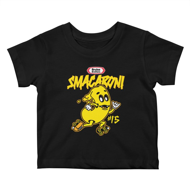 Skater Series: Smacaroni Kids Baby T-Shirt by Chicago Bruise Brothers Roller Derby