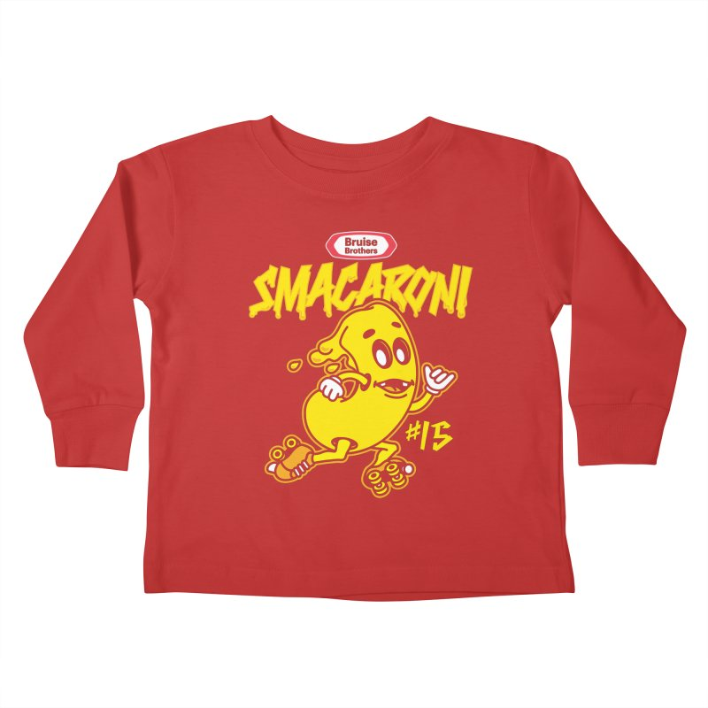 Skater Series: Smacaroni Kids Toddler Longsleeve T-Shirt by Chicago Bruise Brothers Roller Derby