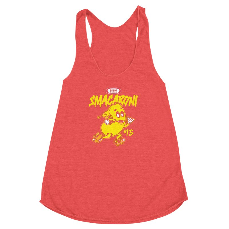 Skater Series: Smacaroni Women's Racerback Triblend Tank by Chicago Bruise Brothers Roller Derby