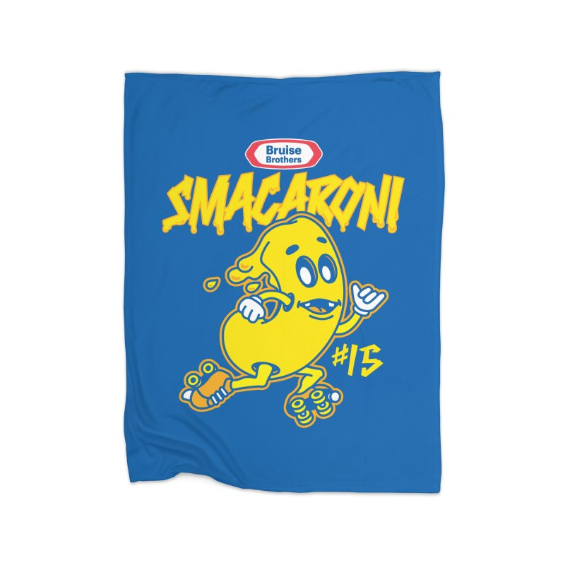 Skater Series: Smacaroni Home Fleece Blanket Blanket by Chicago Bruise Brothers Roller Derby