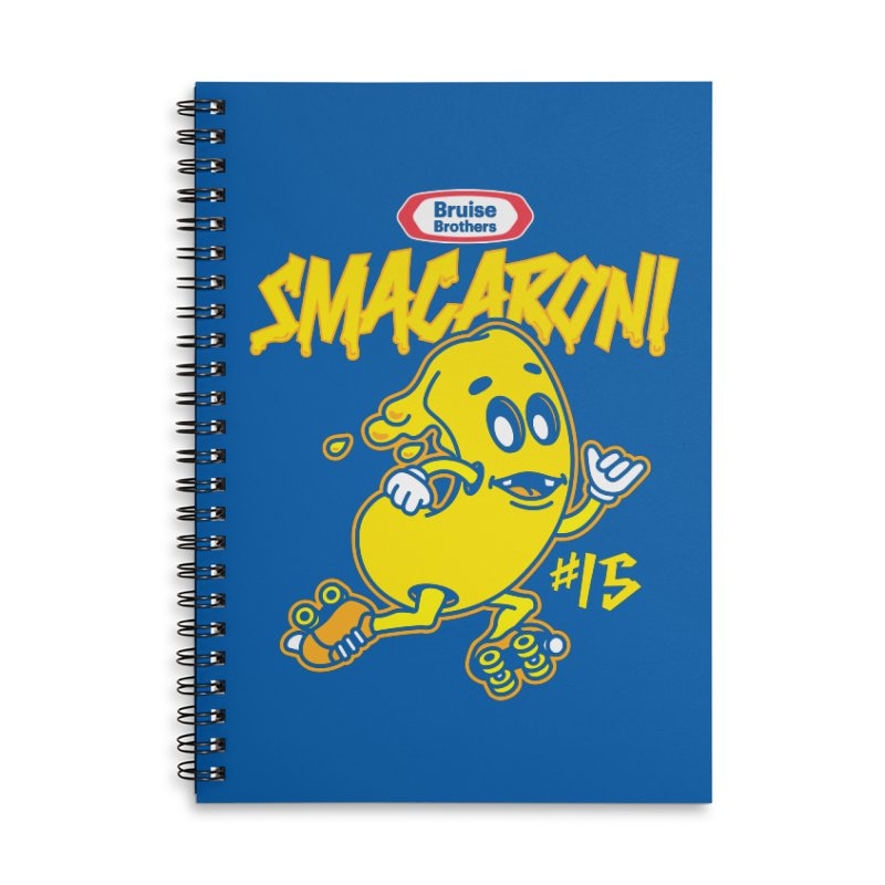 Skater Series: Smacaroni Accessories Lined Spiral Notebook by Chicago Bruise Brothers Roller Derby