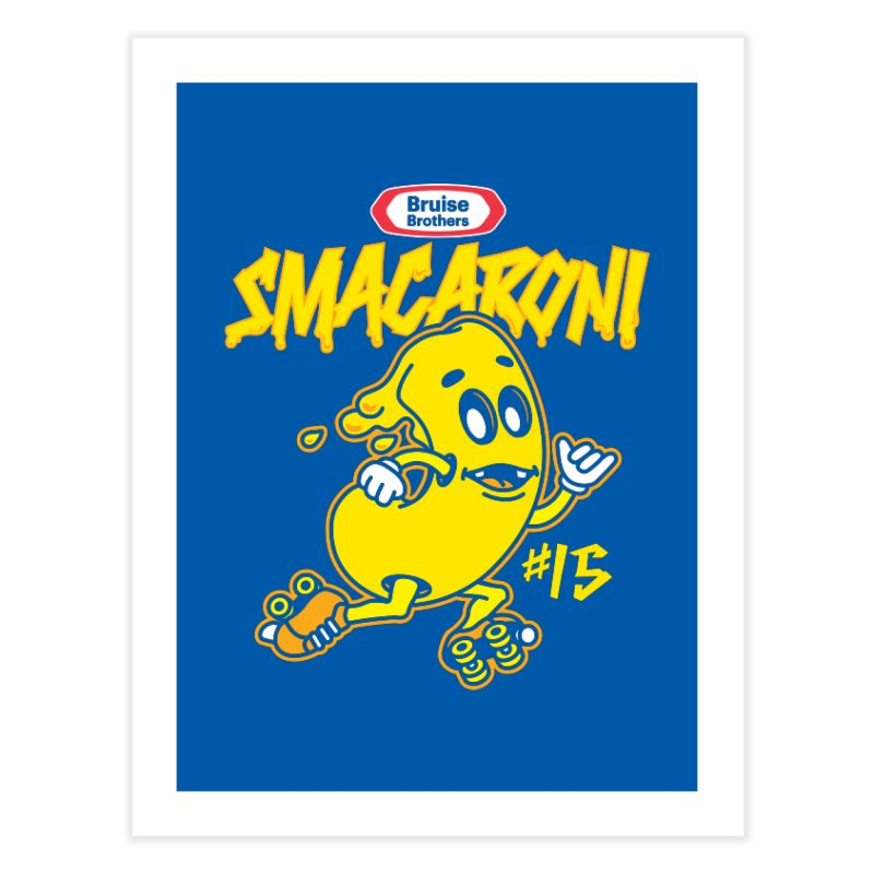 Skater Series: Smacaroni Home Fine Art Print by Chicago Bruise Brothers Roller Derby