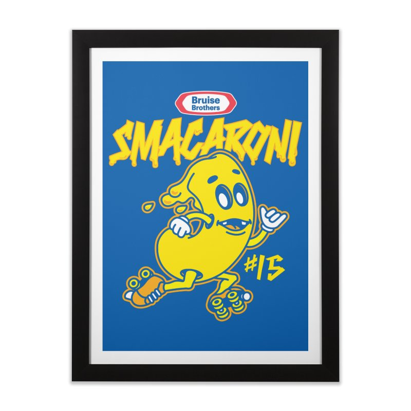 Skater Series: Smacaroni Home Framed Fine Art Print by Chicago Bruise Brothers Roller Derby
