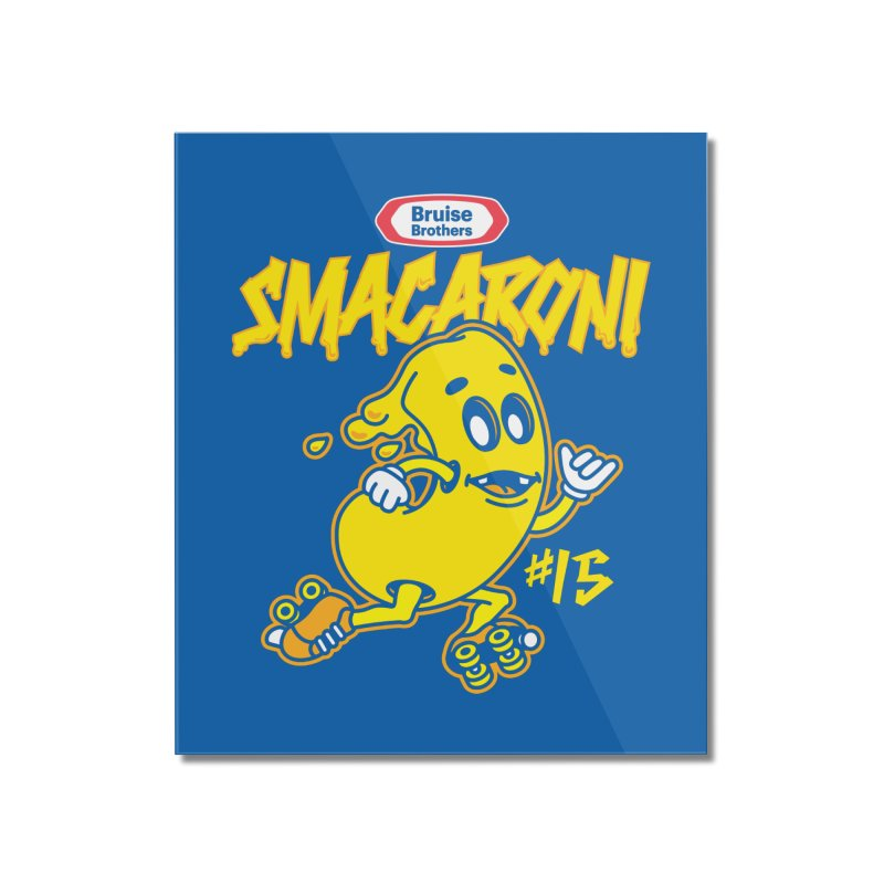 Skater Series: Smacaroni Home Mounted Acrylic Print by Chicago Bruise Brothers Roller Derby