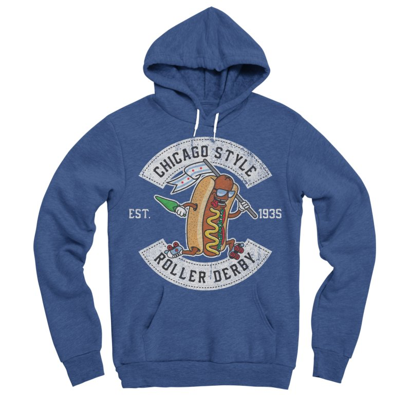 Chicago Style Derby Men's Sponge Fleece Pullover Hoody by Chicago Bruise Brothers Roller Derby
