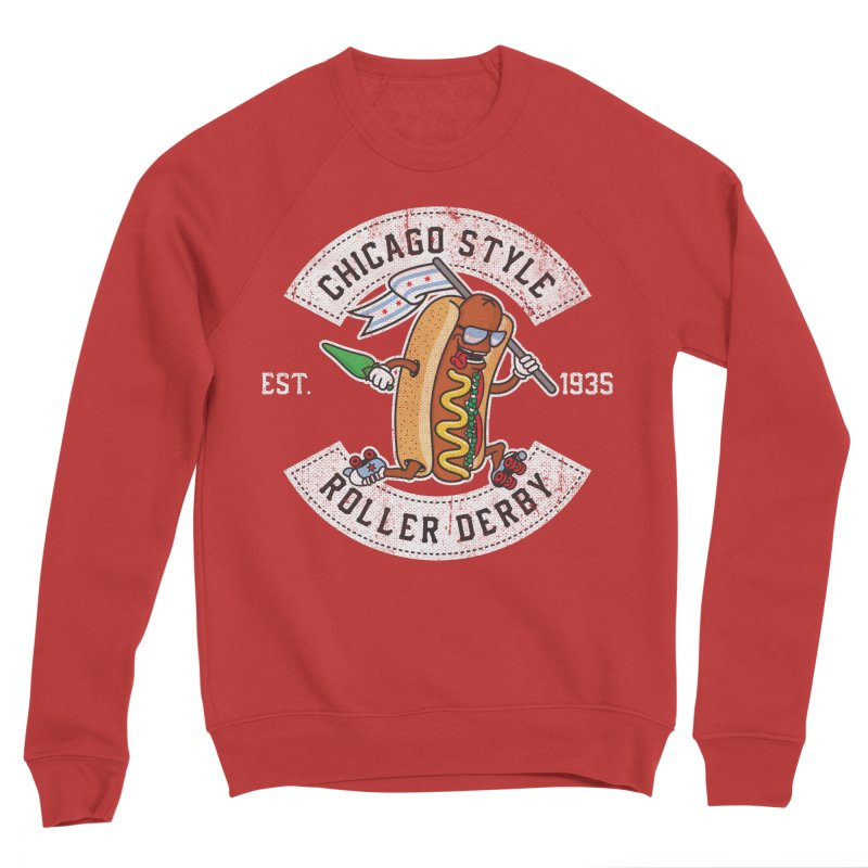 Chicago Style Derby Men's Sponge Fleece Sweatshirt by Chicago Bruise Brothers Roller Derby