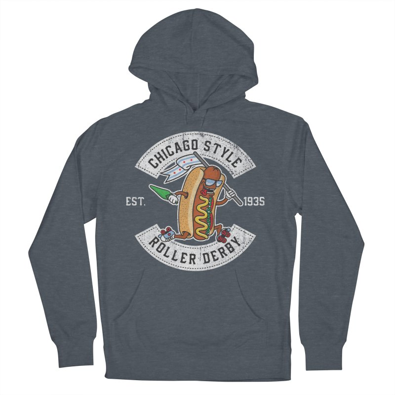 Chicago Style Derby Women's French Terry Pullover Hoody by Chicago Bruise Brothers Roller Derby