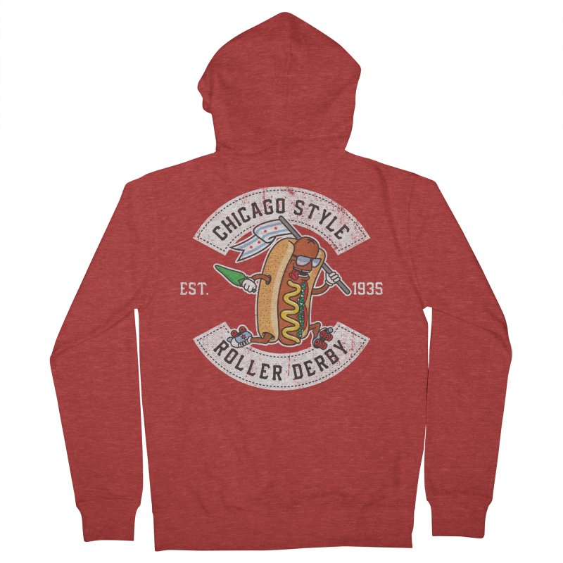 Chicago Style Derby Women's French Terry Zip-Up Hoody by Chicago Bruise Brothers Roller Derby