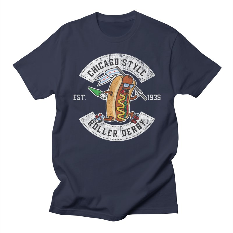 Chicago Style Derby Men's Regular T-Shirt by Chicago Bruise Brothers Roller Derby