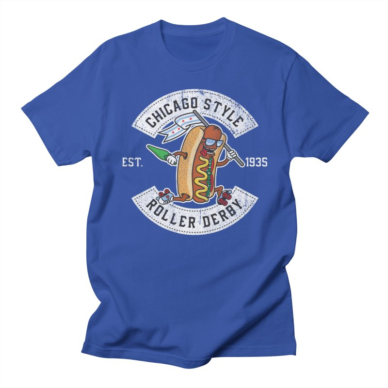 Chicago Style Derby Men's T-Shirt by Chicago Bruise Brothers Roller Derby