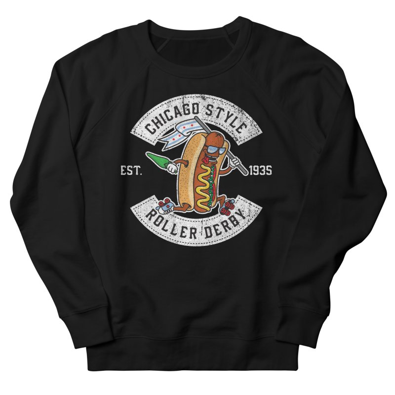 Chicago Style Derby Men's French Terry Sweatshirt by Chicago Bruise Brothers Roller Derby