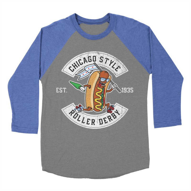 Chicago Style Derby Women's Baseball Triblend Longsleeve T-Shirt by Chicago Bruise Brothers Roller Derby