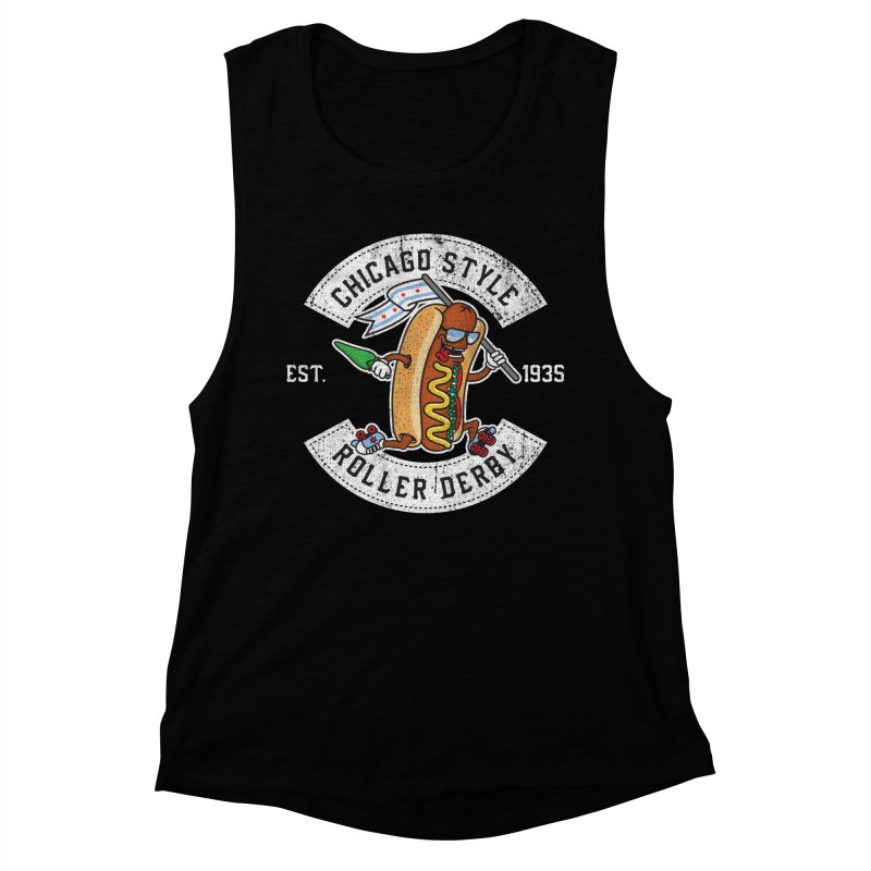 Chicago Style Derby Women's Muscle Tank by Chicago Bruise Brothers Roller Derby
