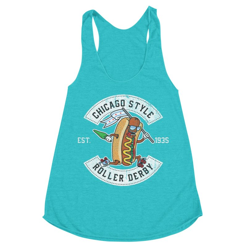 Chicago Style Derby Women's Racerback Triblend Tank by Chicago Bruise Brothers Roller Derby