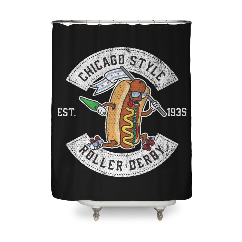 Chicago Style Derby Home Shower Curtain by Chicago Bruise Brothers Roller Derby