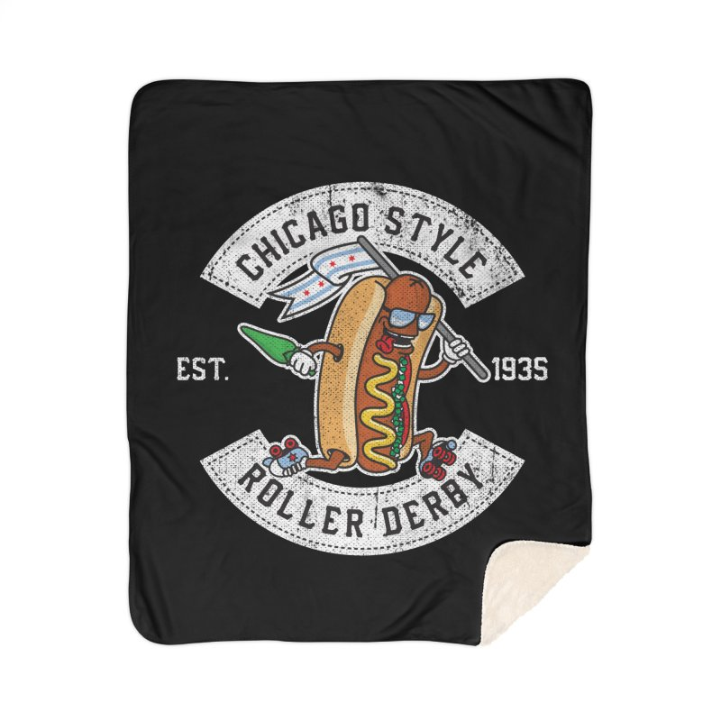 Chicago Style Derby Home Sherpa Blanket Blanket by Chicago Bruise Brothers Roller Derby