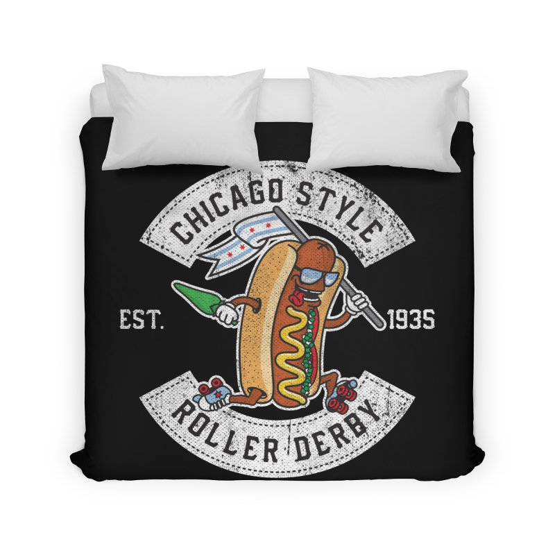 Chicago Style Derby Home Duvet by Chicago Bruise Brothers Roller Derby