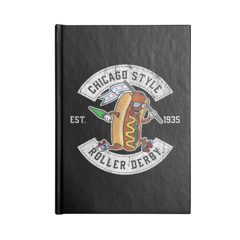 Chicago Style Derby Accessories Lined Journal Notebook by Chicago Bruise Brothers Roller Derby