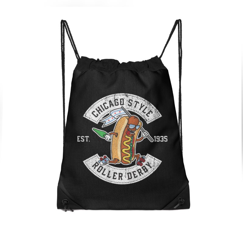Chicago Style Derby Accessories Drawstring Bag Bag by Chicago Bruise Brothers Roller Derby