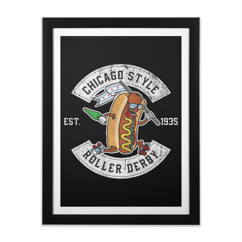Chicago Style Derby Home Framed Fine Art Print by Chicago Bruise Brothers Roller Derby