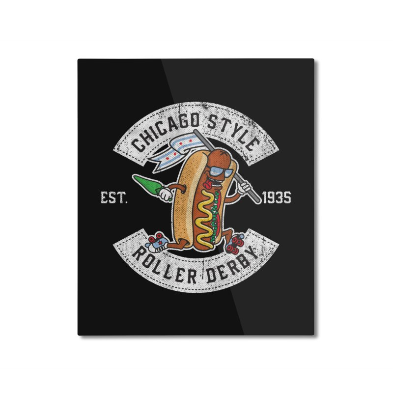Chicago Style Derby Home Mounted Aluminum Print by Chicago Bruise Brothers Roller Derby