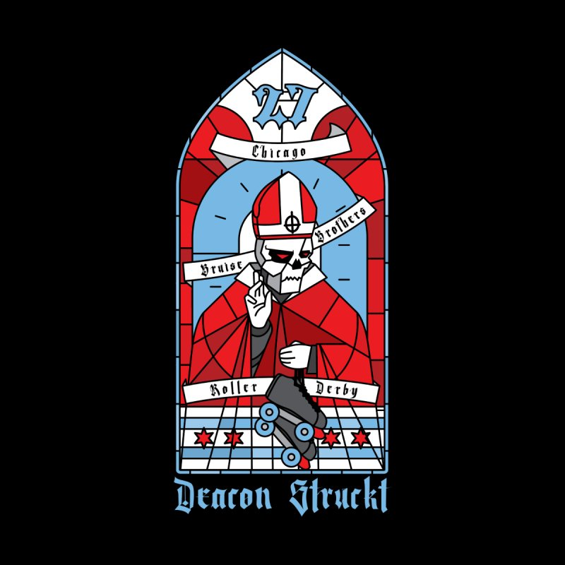 Skater Series: Deacon Struckt Men's Sweatshirt by Chicago Bruise Brothers Roller Derby