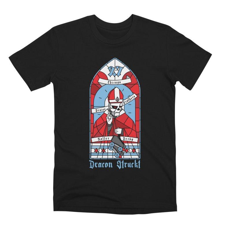 Skater Series: Deacon Struckt Men's Premium T-Shirt by Chicago Bruise Brothers Roller Derby